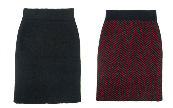 Jia Collection Glenda reversible pencil skirt for twice the fashion and twice the fun!