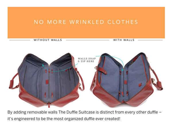 Wool&Oak Duffle Suitcase - Best Travel Bags