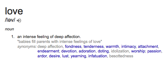 Love definition - Google