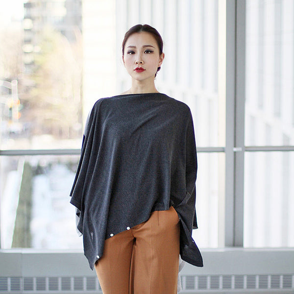 travel knitwear - max scarf poncho - jia collection