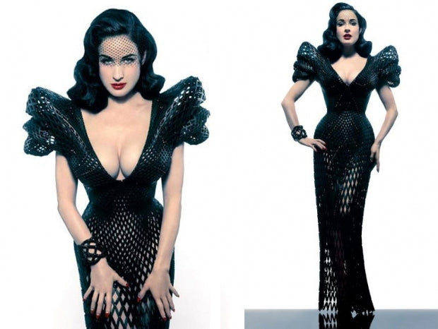 dita von teese 3-d printed dress