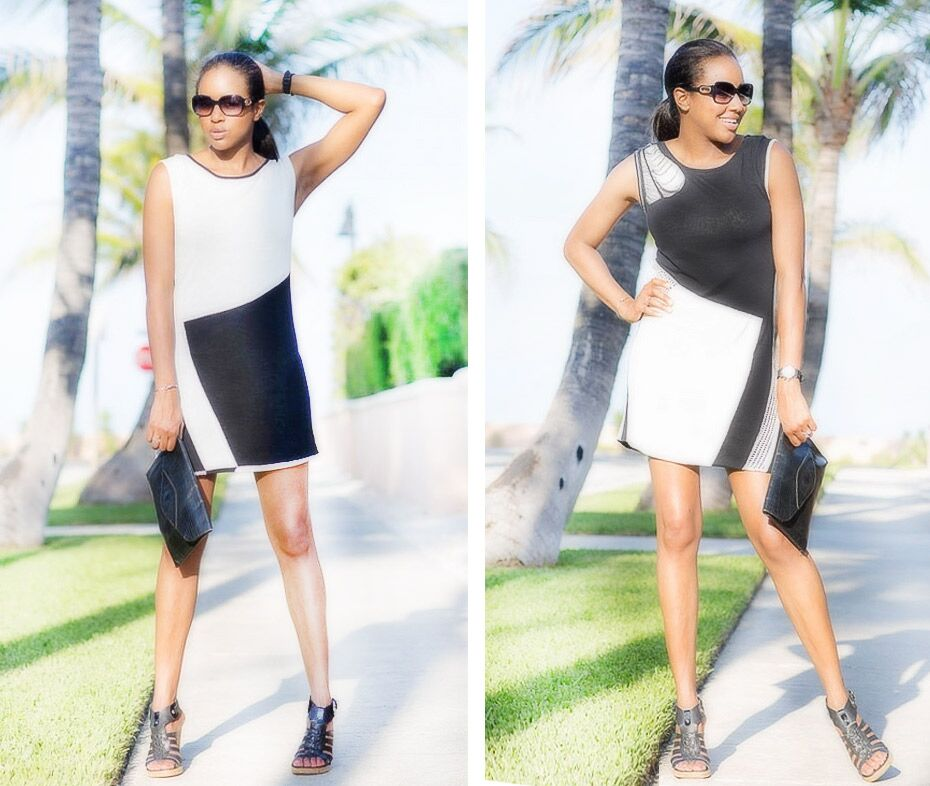 Busy Wife Busy Life Sherita Janielle in Jia Collection Erika reversible knit dress