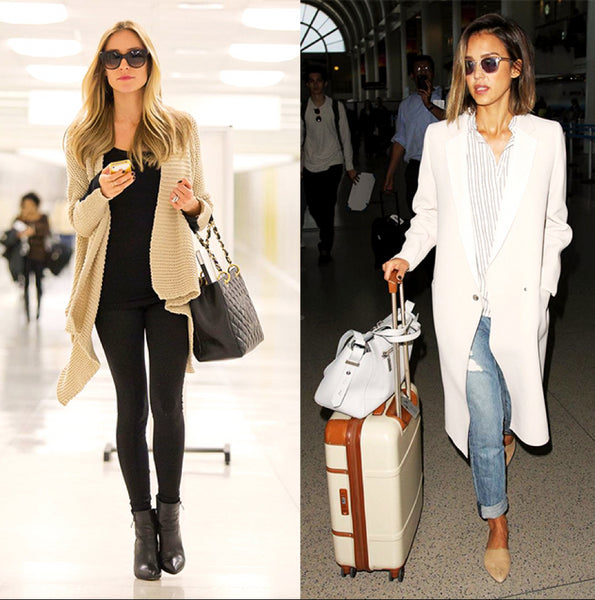 fly in style and comfort _ Jessica Biel_Rosie huntington-whiteley