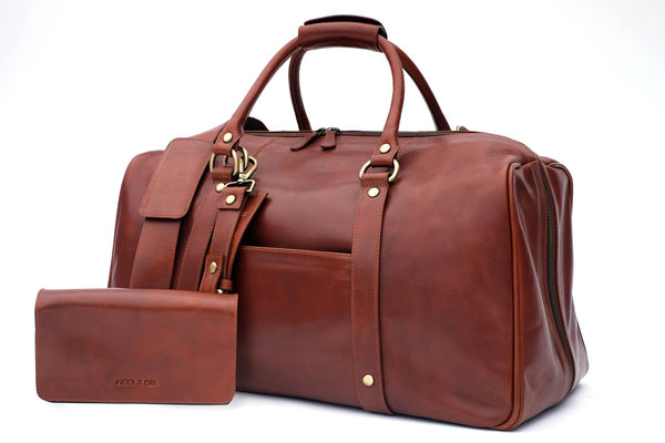 Wool&Oak Duffle Suitcase - Smart Suitcase Duffle, Best Travel Essentials, Best Travel Bags