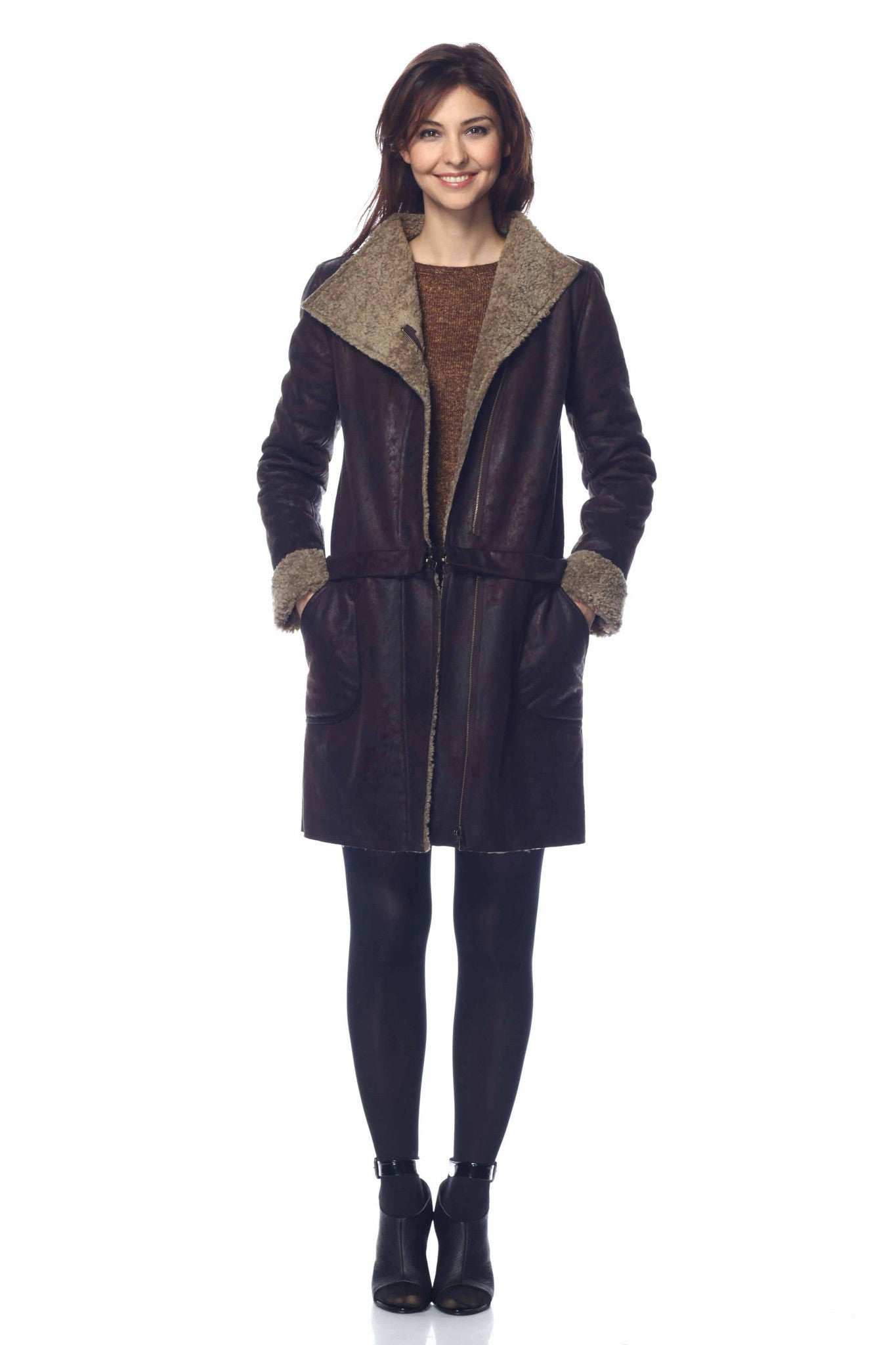 08d7bb423 Hayden 6-Way Leather and Faux Shearling Jacket/Coat