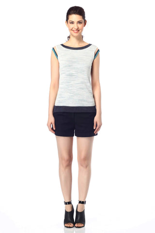 Azzurra Boat Neck Reversible Top