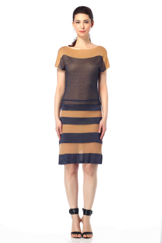 Bela Luxury Boat Neck Reversible Dress