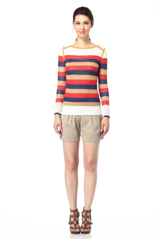Claudette Reversible Pullover - Red