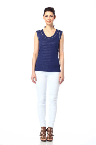 Carla Reversible Round Neck Tank Top