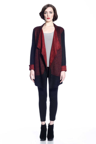 Danielle Reversible 4-Way Silk/Cashmere Cardigan/Dress – Red/Black