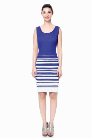 Alberta Reversible Straight Knit-Dress