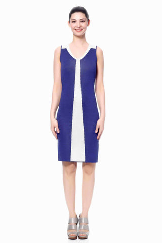 Estee Elegant V-Neck Sleeveless Reversible Dress