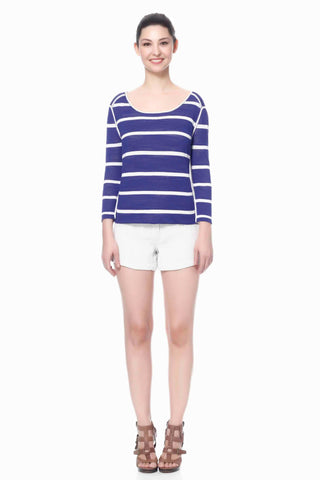 Edith High Neck Cruise Reversible Pullover