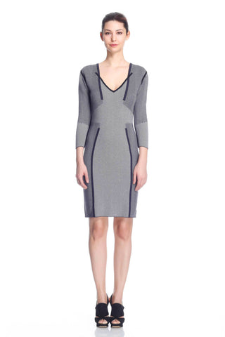 Loretta Reversible Dress/Pullover - Navy/Grey