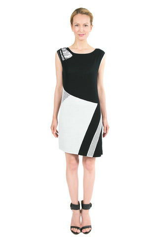Agata Reversible Knit-Dress with Matching Sash