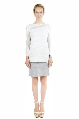 Dorris 3-Way Convertible White Cardigan Dress