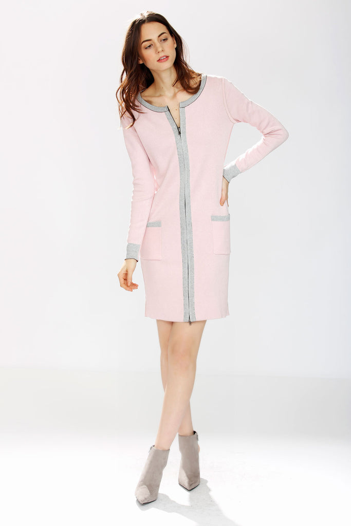 36aceceb960e1 Danielle Reversible 4-Way Silk/Cashmere Cardigan/Dress – Beige/Pink