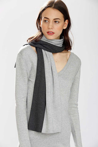 Max 8-Way Scarf/Cape – Black/Grey/Charcoal