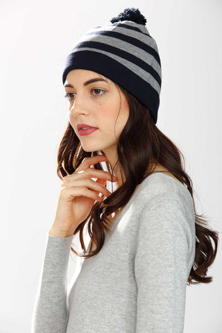 Gene Reversible 4-Way Hat – Navy/Grey