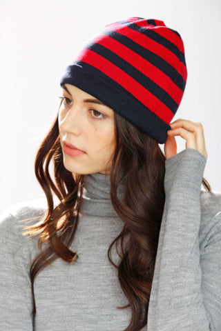 Gene Reversible 4-Way Hat – Red/Navy