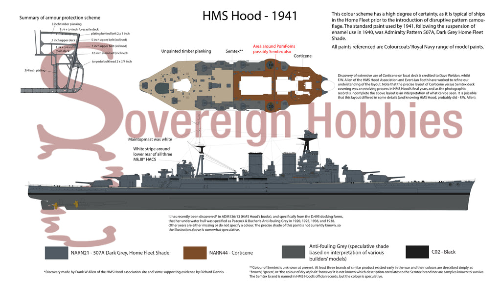 HMS Hood 1941 paint colour guide