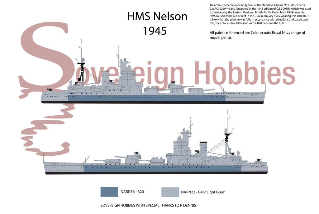 HMS Nelson January 1945 onwards