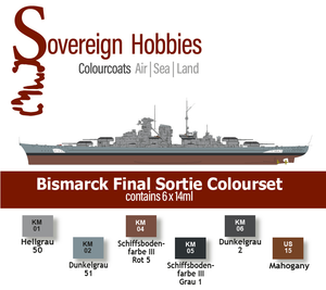 Colourcoats Set DKM Bismarck Final Sortie - Sovereign Hobbies