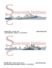 Load image into Gallery viewer, Royal Navy Camouflage - C.A.F.O. 679/42 - SEA-GOING CAMOUFLAGE DESIGNS FOR DESTROYERS AND SMALL SHIPS - Sovereign Hobbies