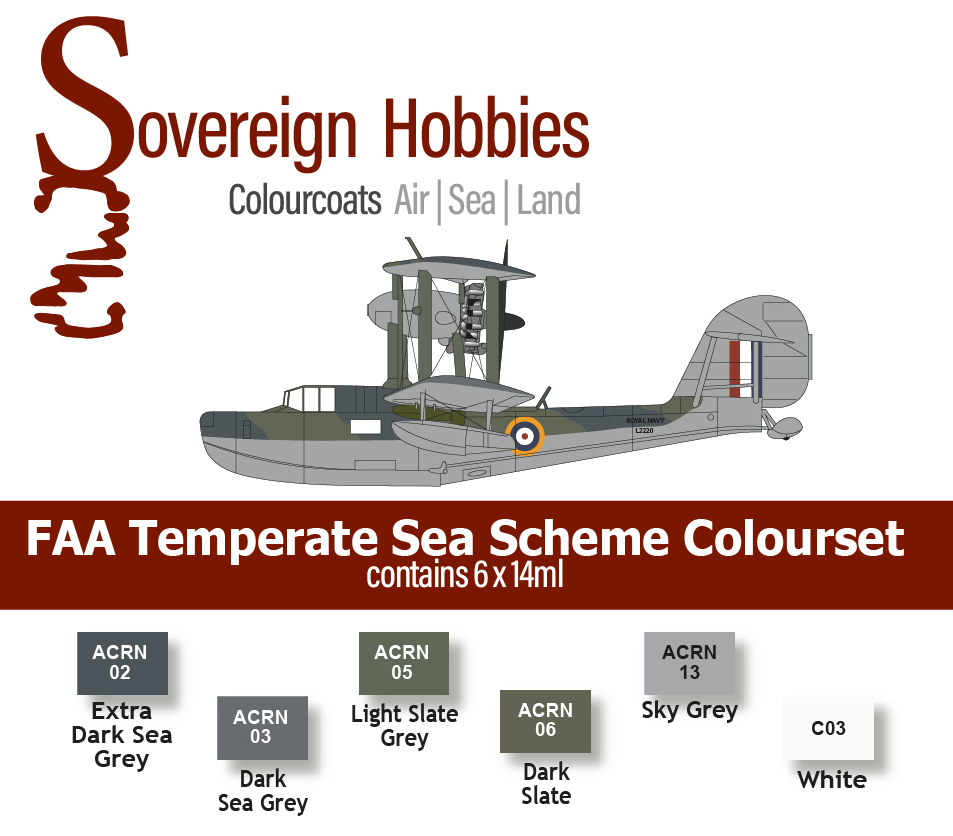 Colourcoats Set FAA Temperate Sea Scheme - Sovereign Hobbies