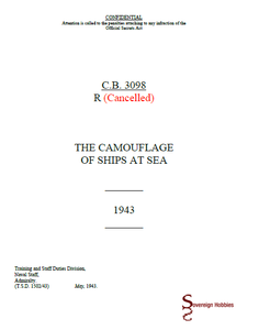 Royal Navy Camouflage - C.B.3098(R) 1943 Edition - THE CAMOUFLAGE OF SHIPS AT SEA - Sovereign Hobbies