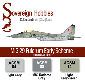 Colourcoats Set MiG 29 Fulcrum Early Scheme Colourset