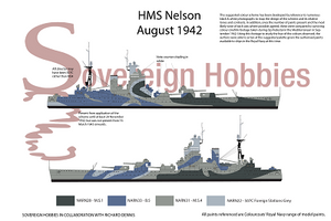 A3 Printed Colour Profile - HMS Nelson 1942