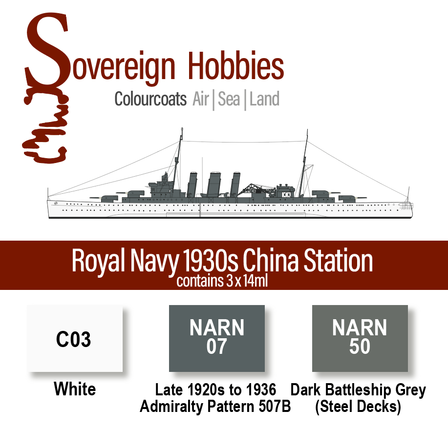 Colourcoats Set Royal Navy 1930s China Station