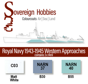 Colourcoats Set Royal Navy 1943-1945 Western Approaches - Sovereign Hobbies