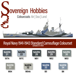 Colourcoats Set Royal Navy Camouflage 1941-1943 - Sovereign Hobbies
