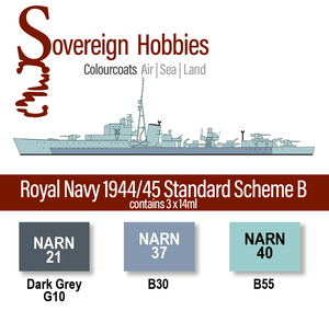 Colourcoats Set Royal Navy 1944- Standard Scheme B - Sovereign Hobbies