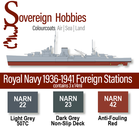Colourcoats Set Royal Navy 1936-1941 Foreign Stations - Sovereign Hobbies
