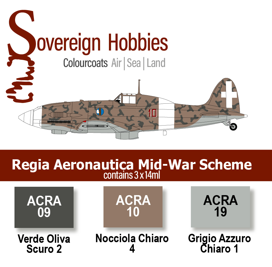 Colourcoats Set Regia Aeronautica Mid-War Set 1 - Sovereign Hobbies