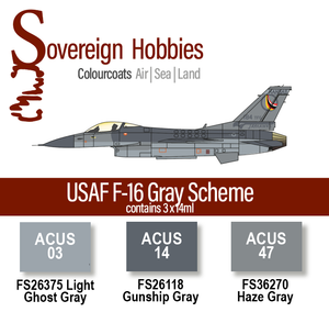 Colourcoats USAF F-16 Gray Scheme Colourset