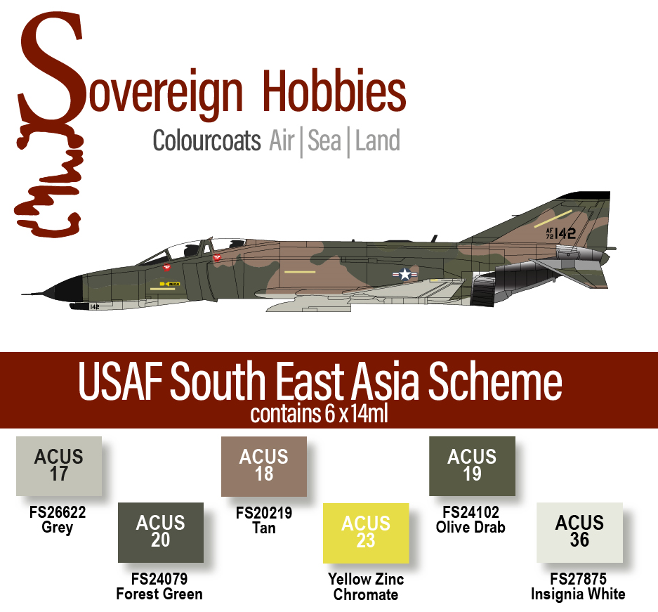 Colourcoats Set USAF South East Asia