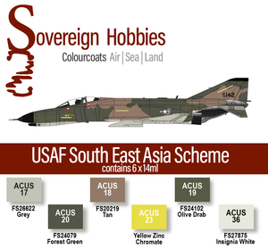Colourcoats Set USAF South East Asia - Sovereign Hobbies