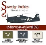 Colourcoats Set US Navy WWII 1944-1947 Overall GSB - Sovereign Hobbies
