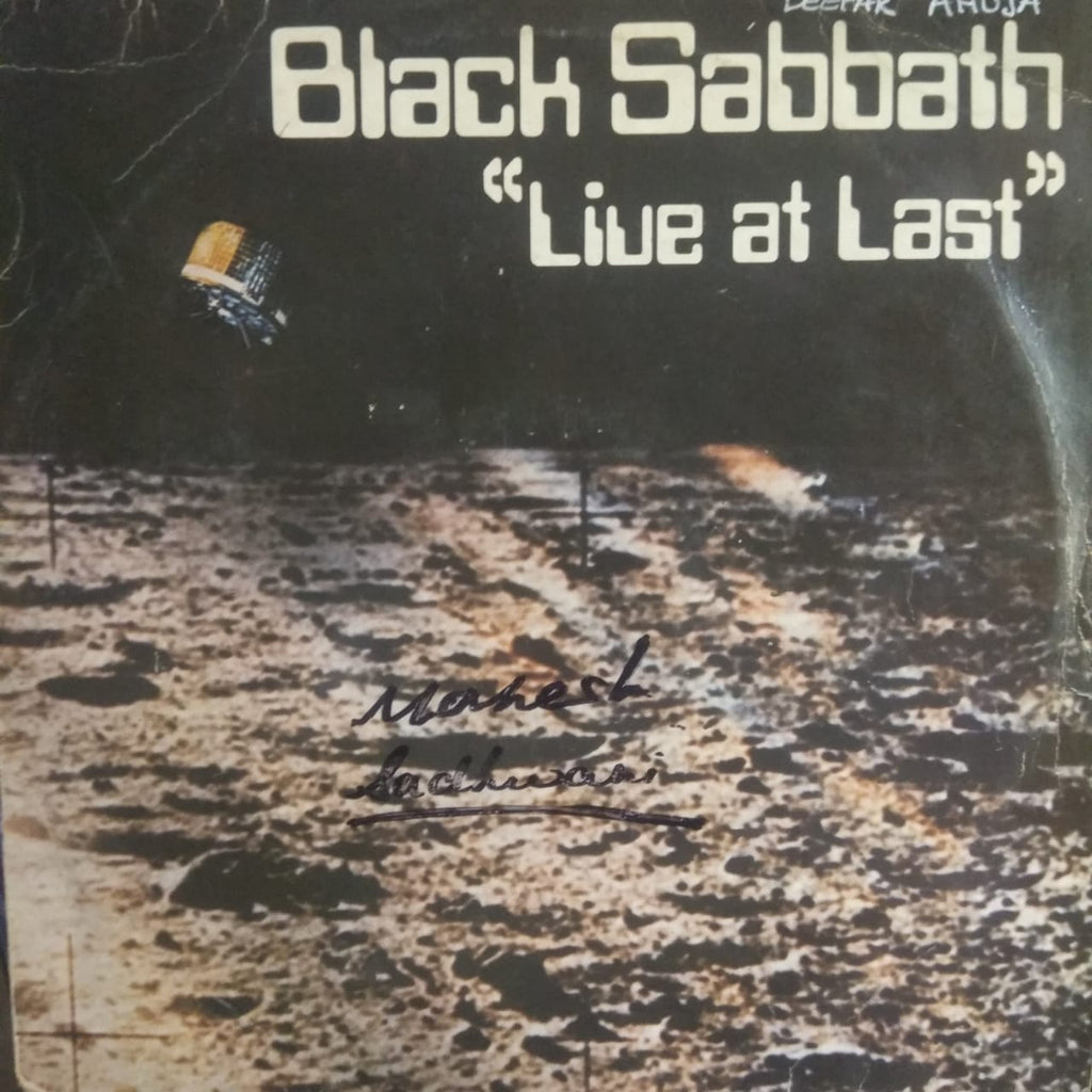Live At Last By Black Sabbath ‎ (Used Vinyl )  VG