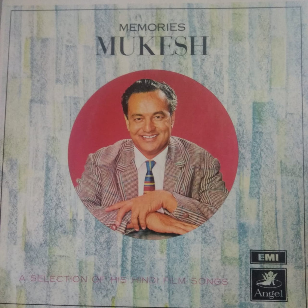 Memories Mukesh A Selection Of His Hindi Films By Mukesh  (Used Vinyl)  VG