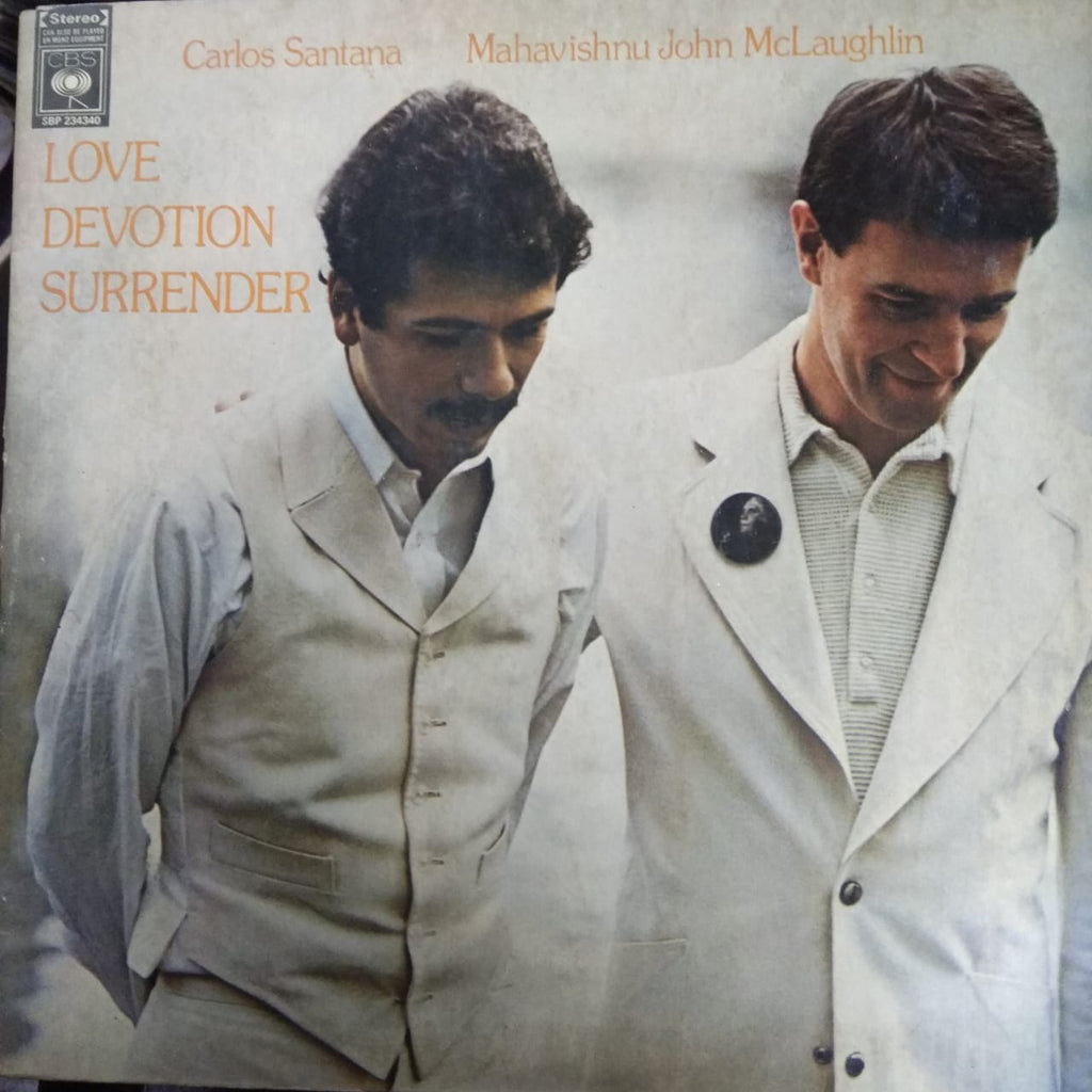 Love Devotion Surrender By Carlos Santana & Mahavishnu John McLaughlin  (Used Vinyl )  VG