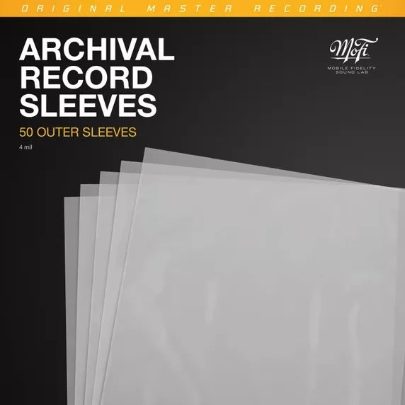 "MFSL ""Archival Record Sleeves 50 Pieces Per Pack (Outer Sleeves)"
