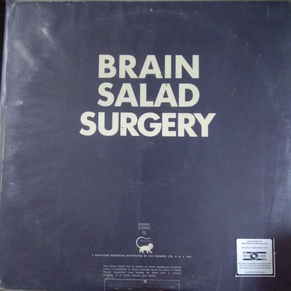 Brain Salad Surgery By Emerson, Lake & Palmer  (Used Vinyl)