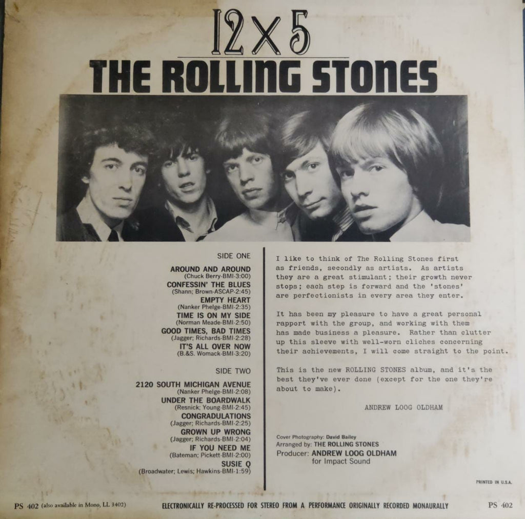 12 X 5 By The Rolling Stones ‎ (Used Vinyl)  VG
