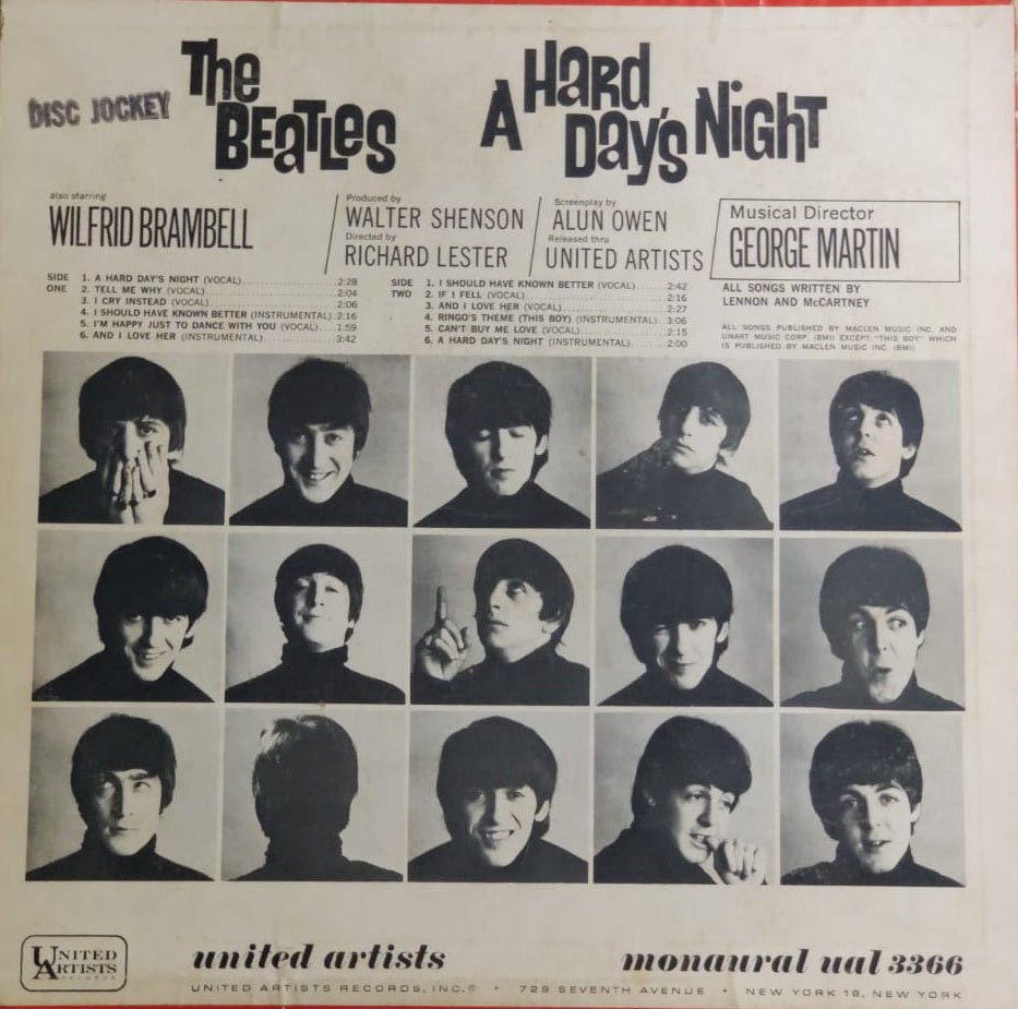 A Hard Days Night by The Beatles  (Used LP)  VG