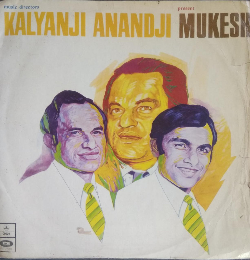 A Selection Of Hindi Film Songs By Kalyanji Anandji present Mukesh  (Used Vinyl) VG+